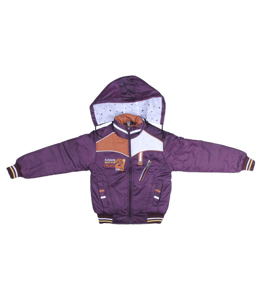 ADI & ADI Purple Padded Jacket With Hood