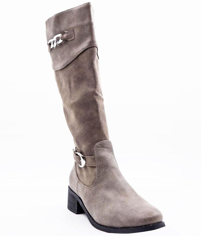 Belle Gambe Stunning Gray Boots