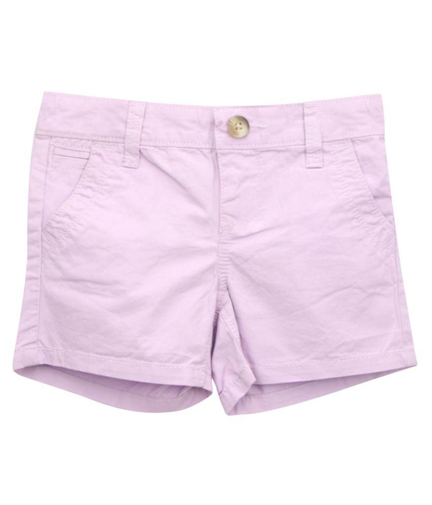 Eimoie Purple Cotton Shorts