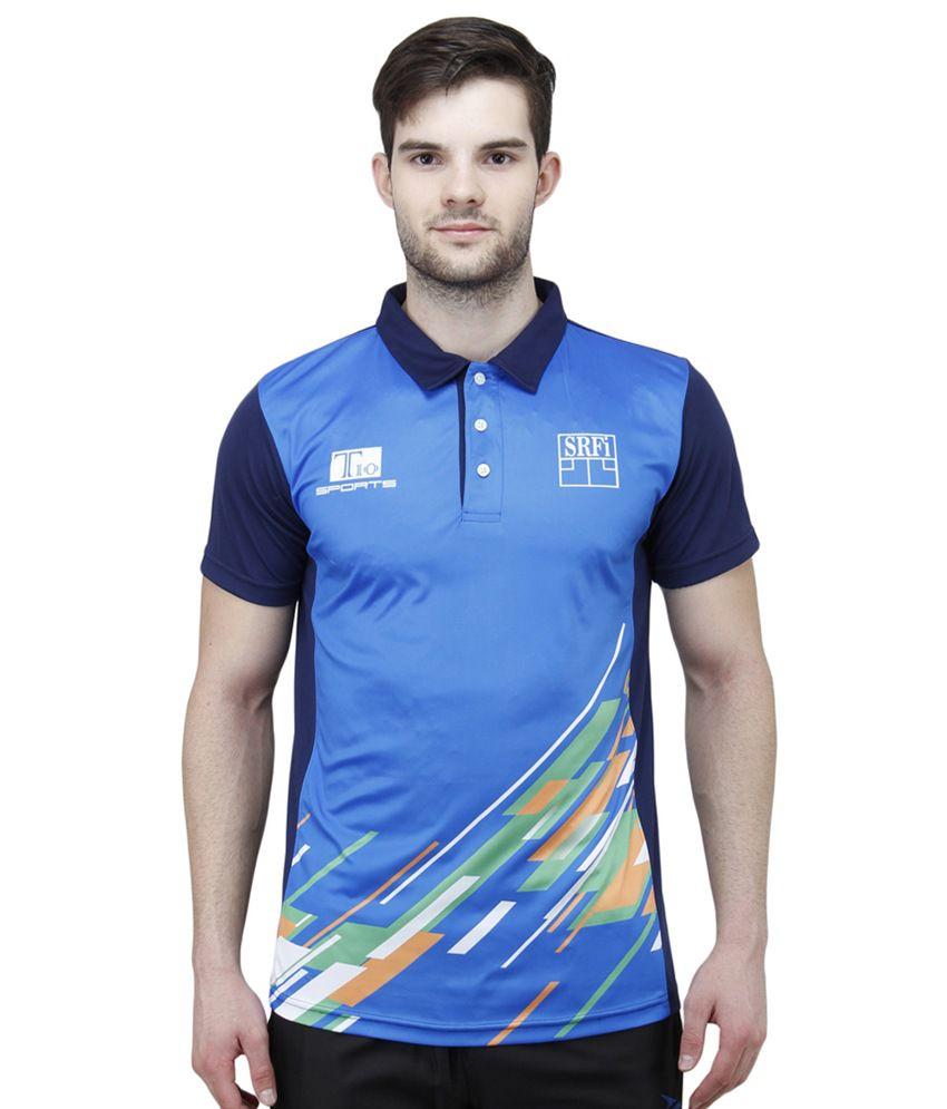 b803eed8 T10 Sports Blue Official India Squash Polo T-shirt - Buy T10 Sports Blue  Official India Squash Polo T-shirt Online at Low Price - Snapdeal.com