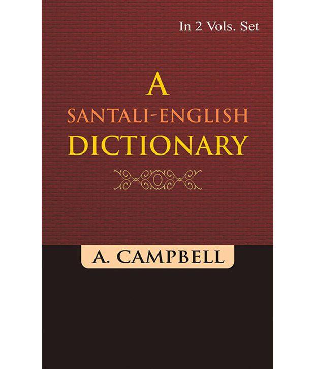 A SantaliEnglish Dictionary  A K , Vol. 1