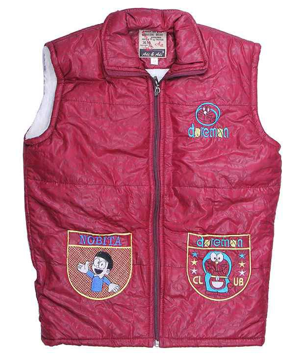 Adi & Adi Maroon Padded Jacket For Girls
