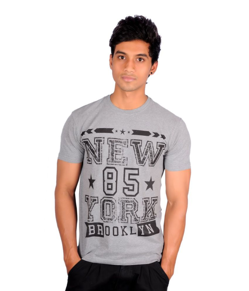Atlant Sports Wear Grey Cotton Blend T Shirt