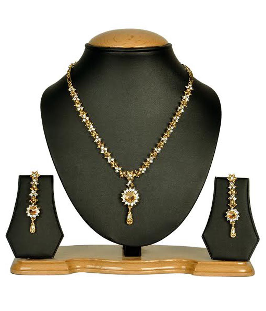 Rashi Jewellery Gold Stylediva Partywear Necklace Set
