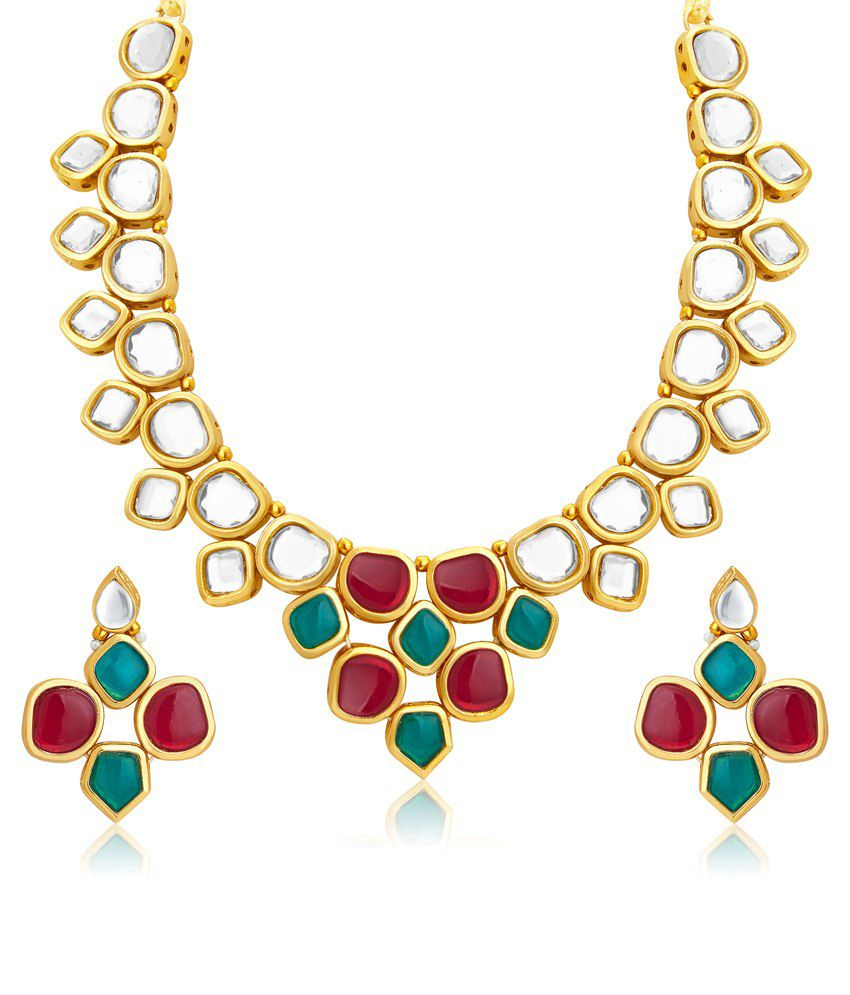 Sukkhi Multicolour Alloy Bridal Necklace Set