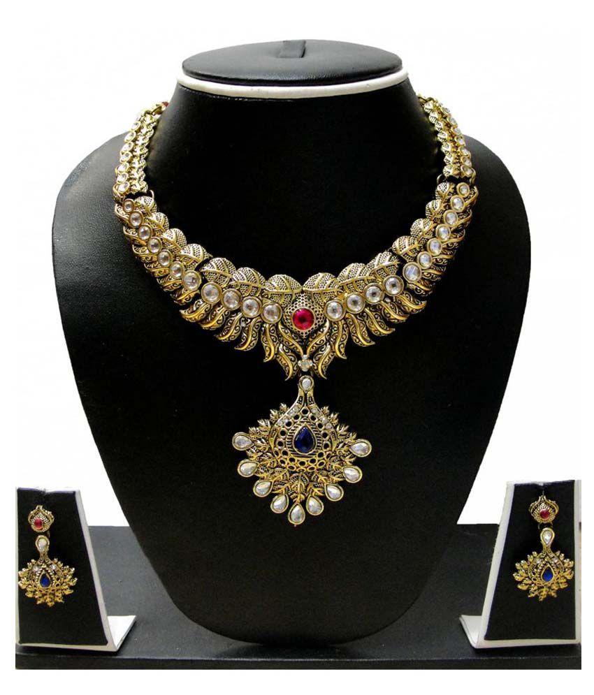 Zaveri Pearls Multicolour Alloy Necklace Set
