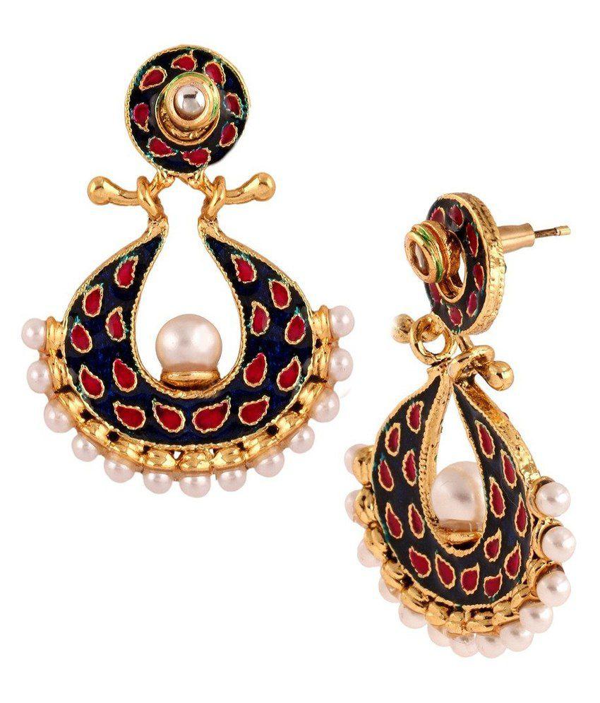 The Jewelbox Multicolour Pearl Designer Stud Earrings