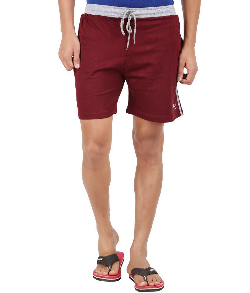 Wild Original Maroon Cotton Short