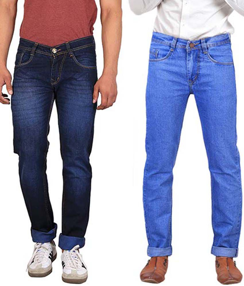 X-Cross Blue Slim Fit Jeans - Pack of 2