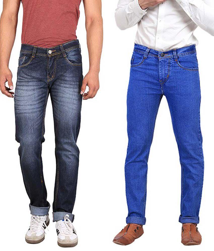 X-Cross Multicolor Cotton Blend Jeans - Pack of 2