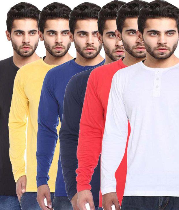 X-cross Multicolour Cotton T-shirt - Pack Of 6