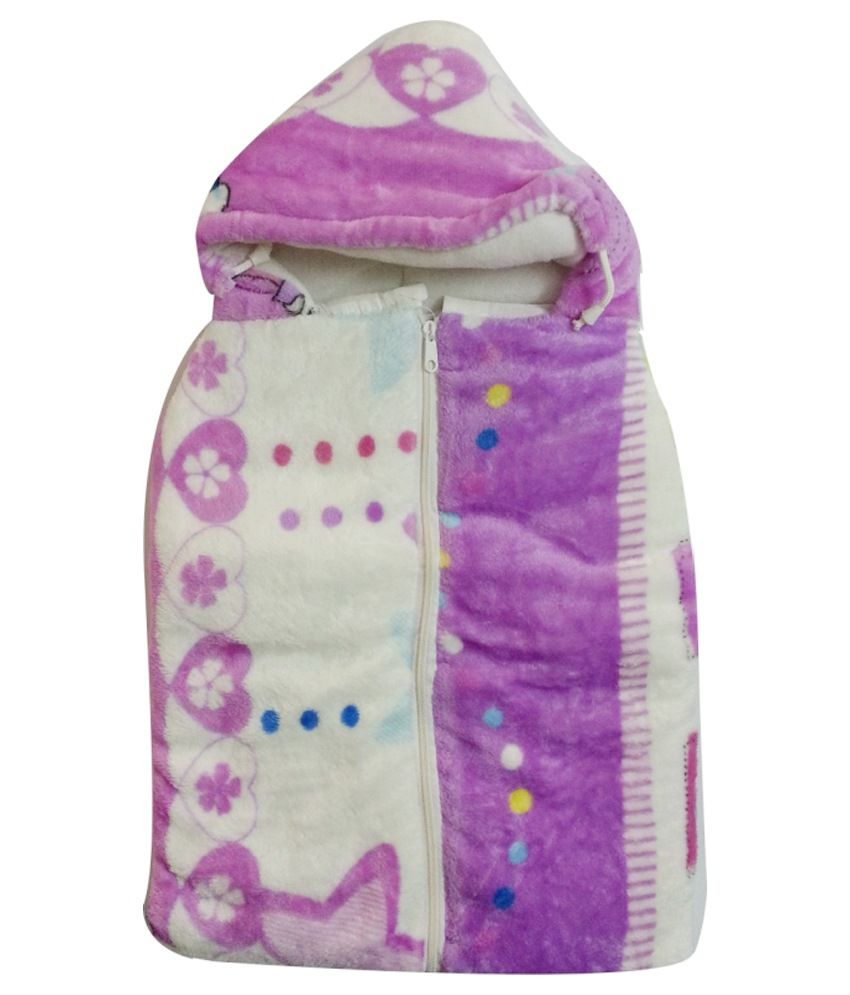 Cute Baby Purple Cotton Baby Sleeping Bag