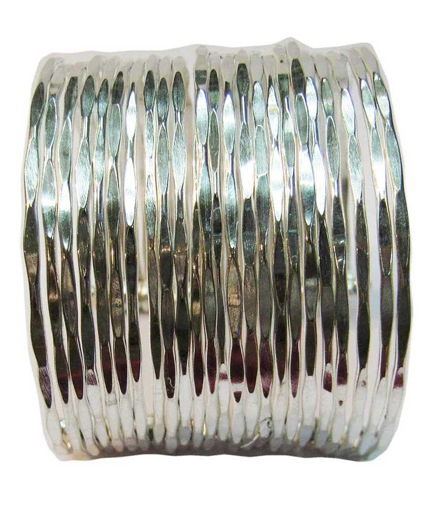 Vinayak Alloy Silver Cuff