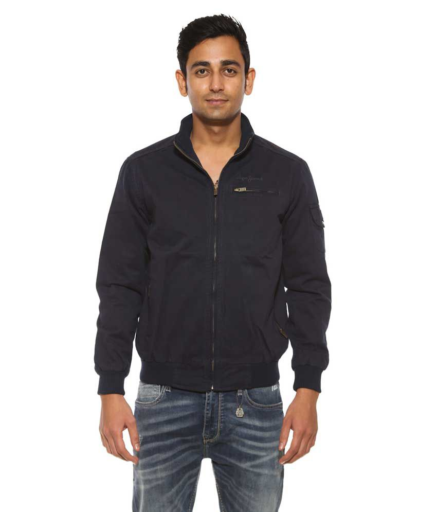Pepe Jeans Blue Full Sleeve Cotton Casual Jacket