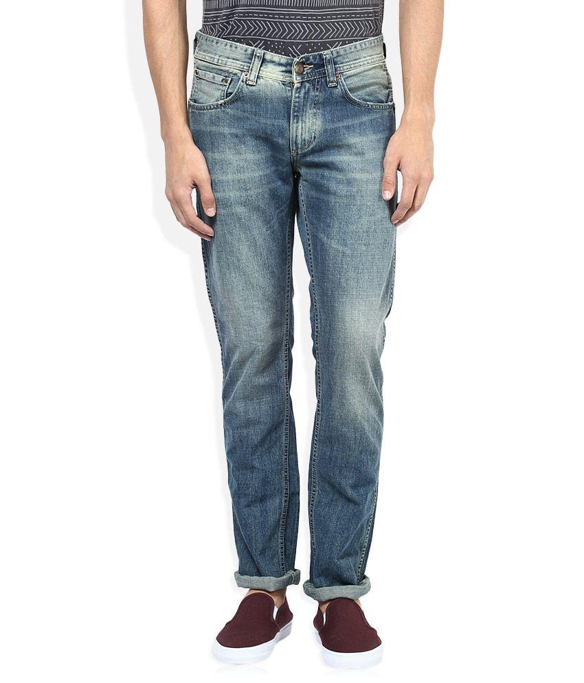Spykar Blue Light Wash Slim Fit Jeans