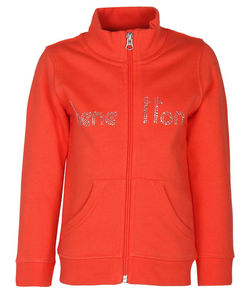 United Colors of Benetton Coral Zippered Sweatshirt