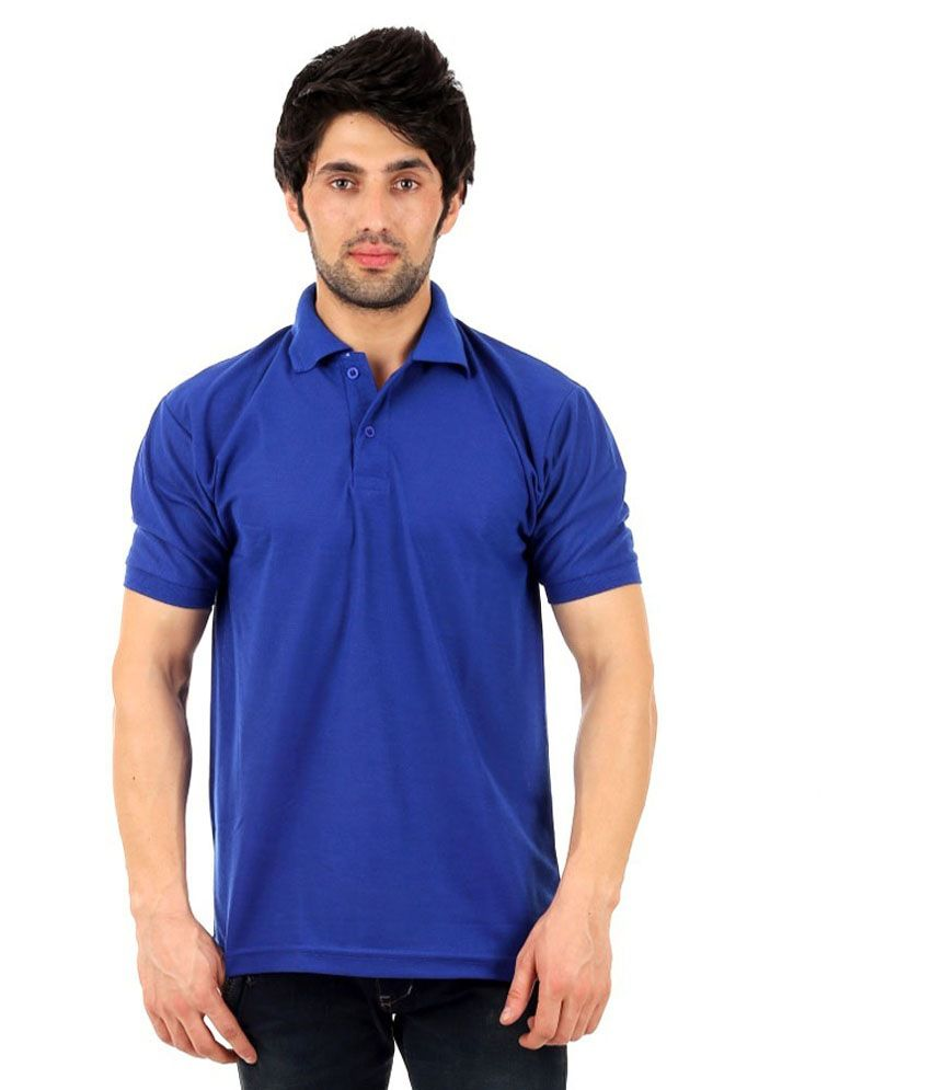 DG Purple Half Sleeves Polo T-Shirt Set Of 2