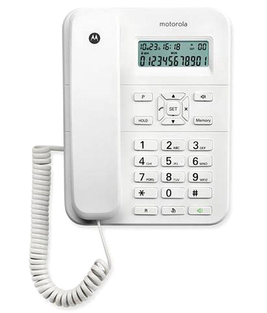 Buy Here Pay Here Ct >> Buy Motorola Ct202 Corded Landline Phone White Landline ...