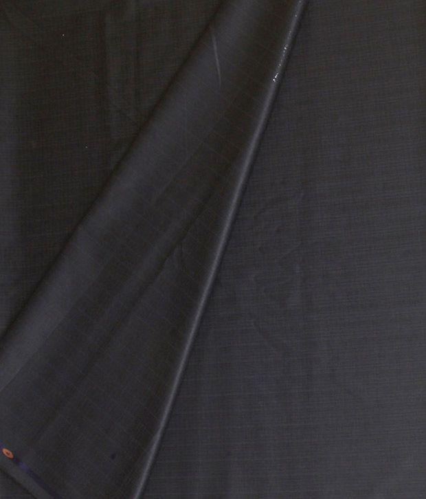 Kundan Sulz Gwalior Black Poly Viscose Unstitched Pant Piece