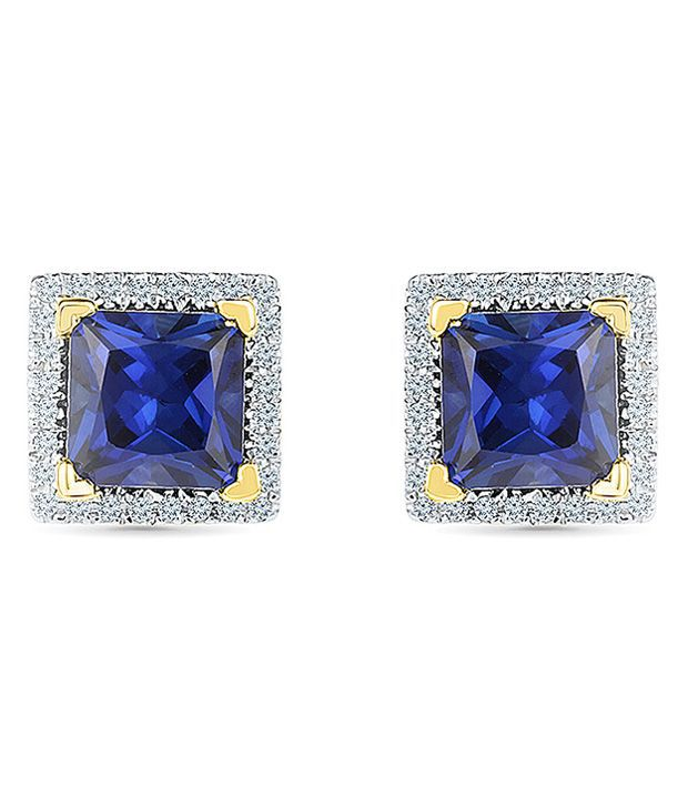 Radiant Bay 18kt Yellow Gold EGL Certified Blue Sapphire Studs