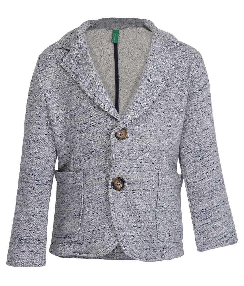 United Colors of Benetton Gray Buttoned Jacket
