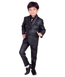 Arshia Fashions Black Cotton Blend Coat Pant Set