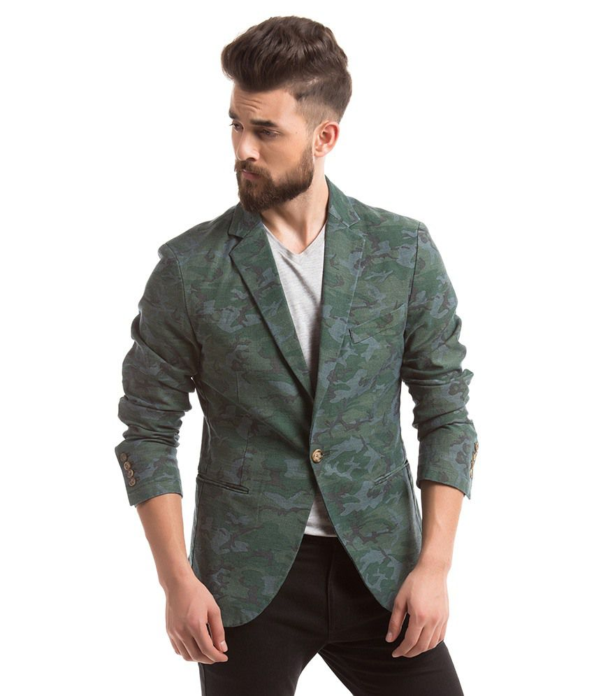 3ac7606b7b6 Shuffle Green Casual Blazer Snapdeal Price. Suits .