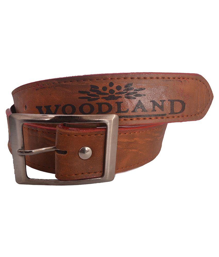 AAM Shopping Tan Pin Buckle Casual Belt for Women