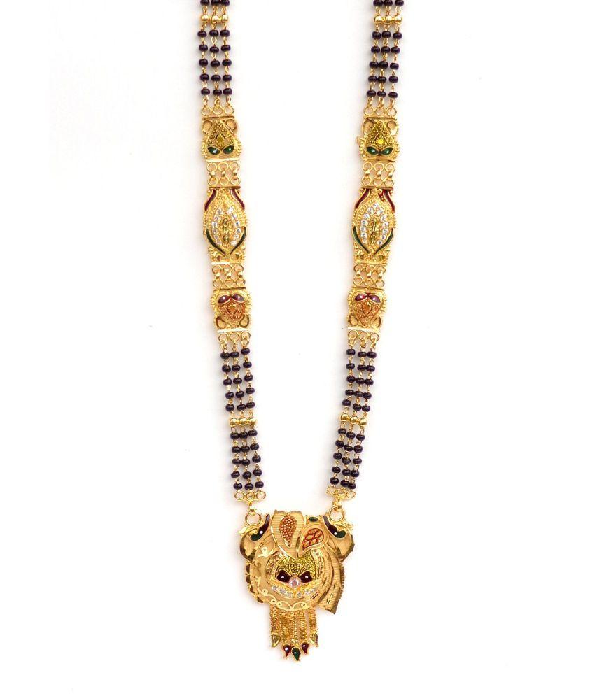 Nishugold Golden Cz Mangalsutra
