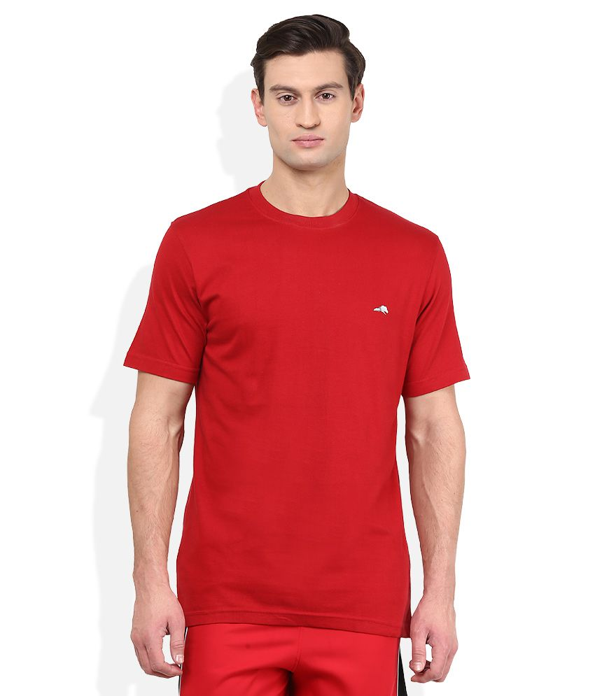 2go Red Solid T-Shirt