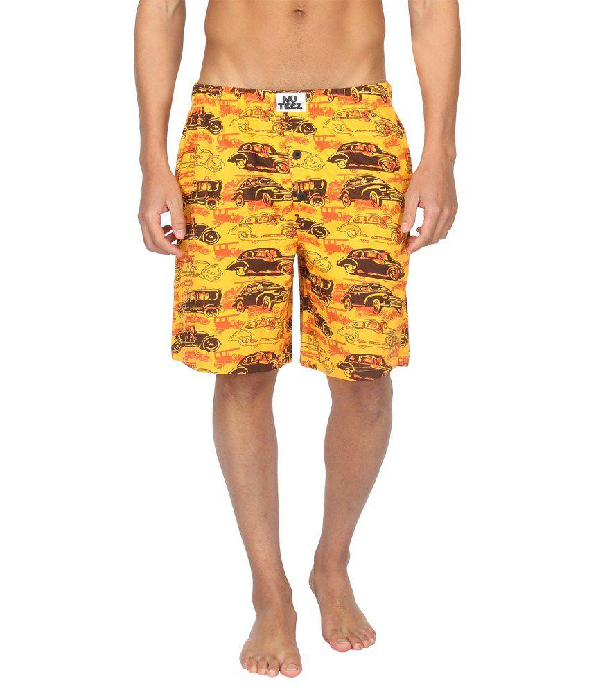 Nuteez Multicolour Cotton Printed Shorts