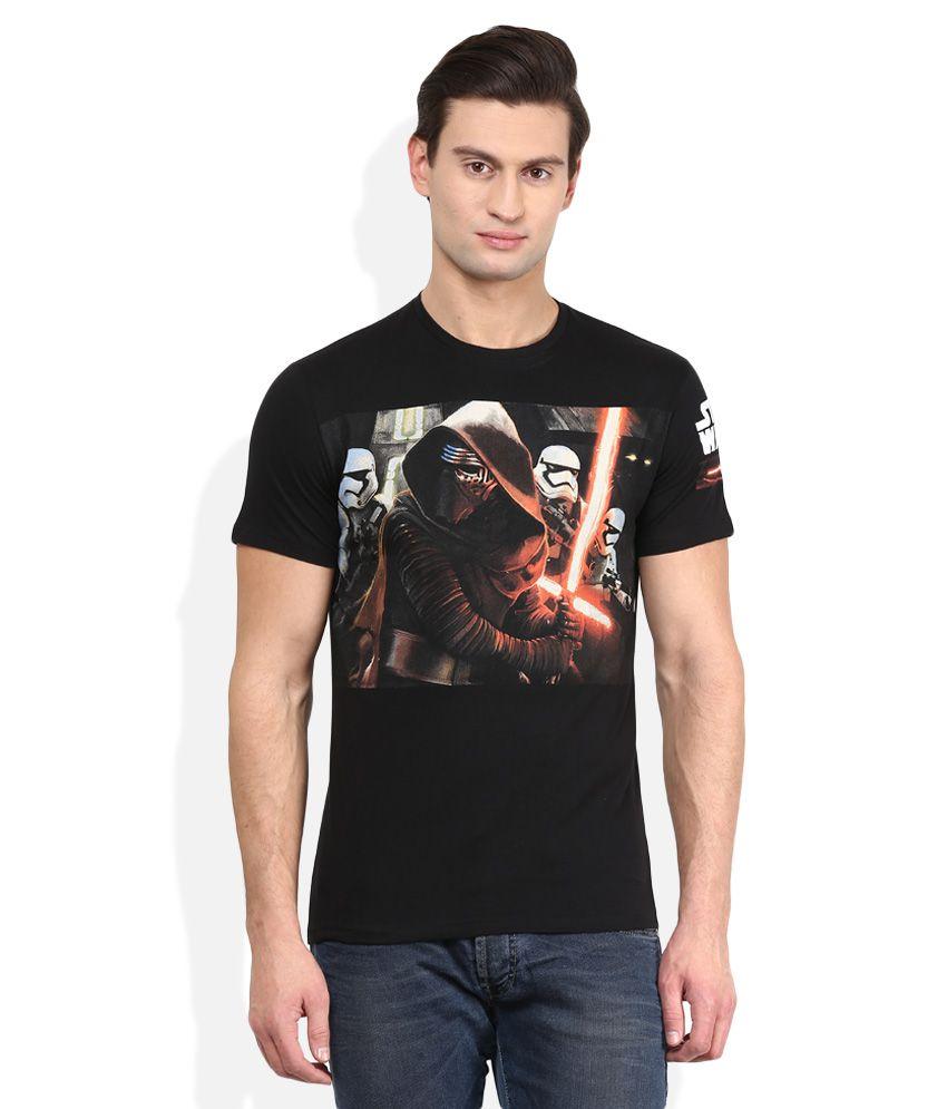 Star Wars Black Round Neck T-Shirt