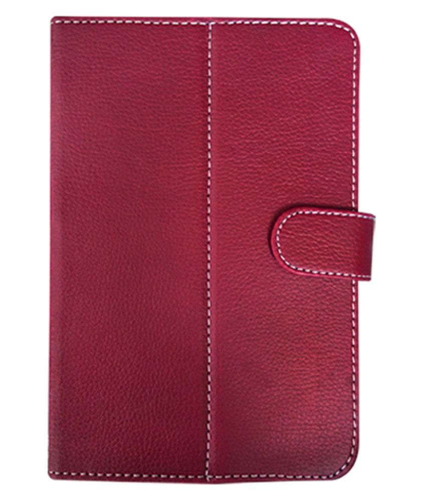 Fastway Flip Cover For Lava Q Pad E704 - Red
