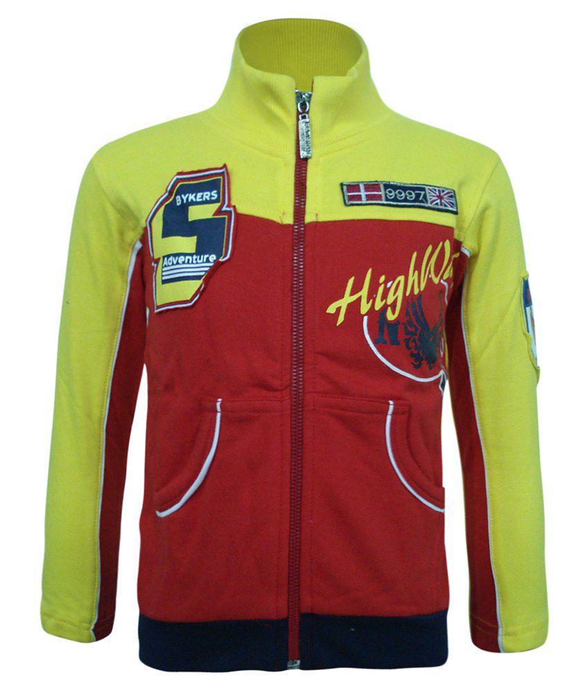 Kothari Red & Yellow Sweatshirt For Boys