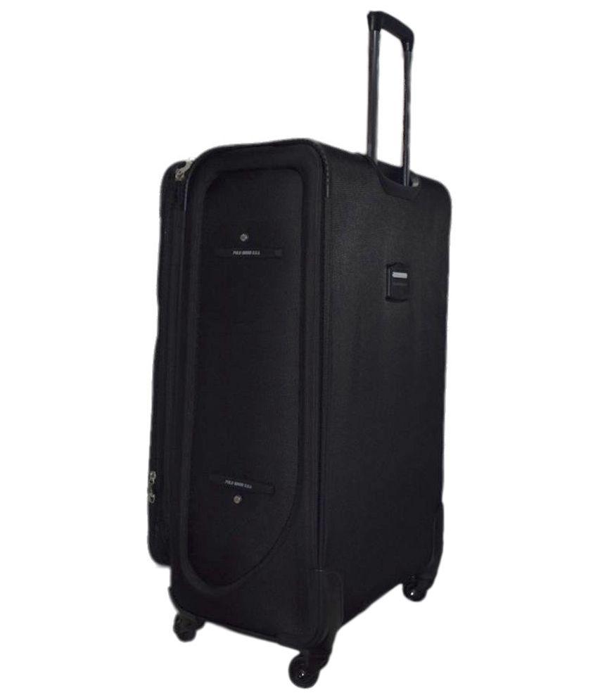 7568811f6b Polo House Usa Black Nylon 4 Wheel Suitcase - Buy Polo House Usa ...