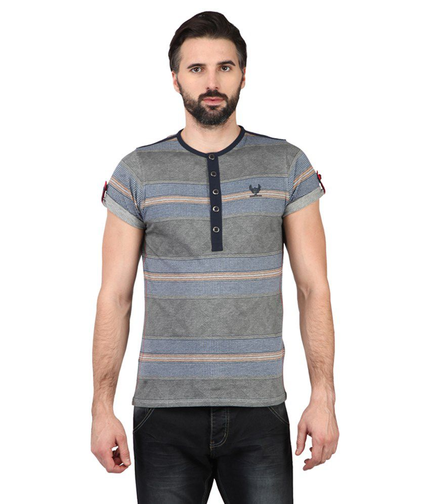 Ringspun Multicolour Cotton T-shirt