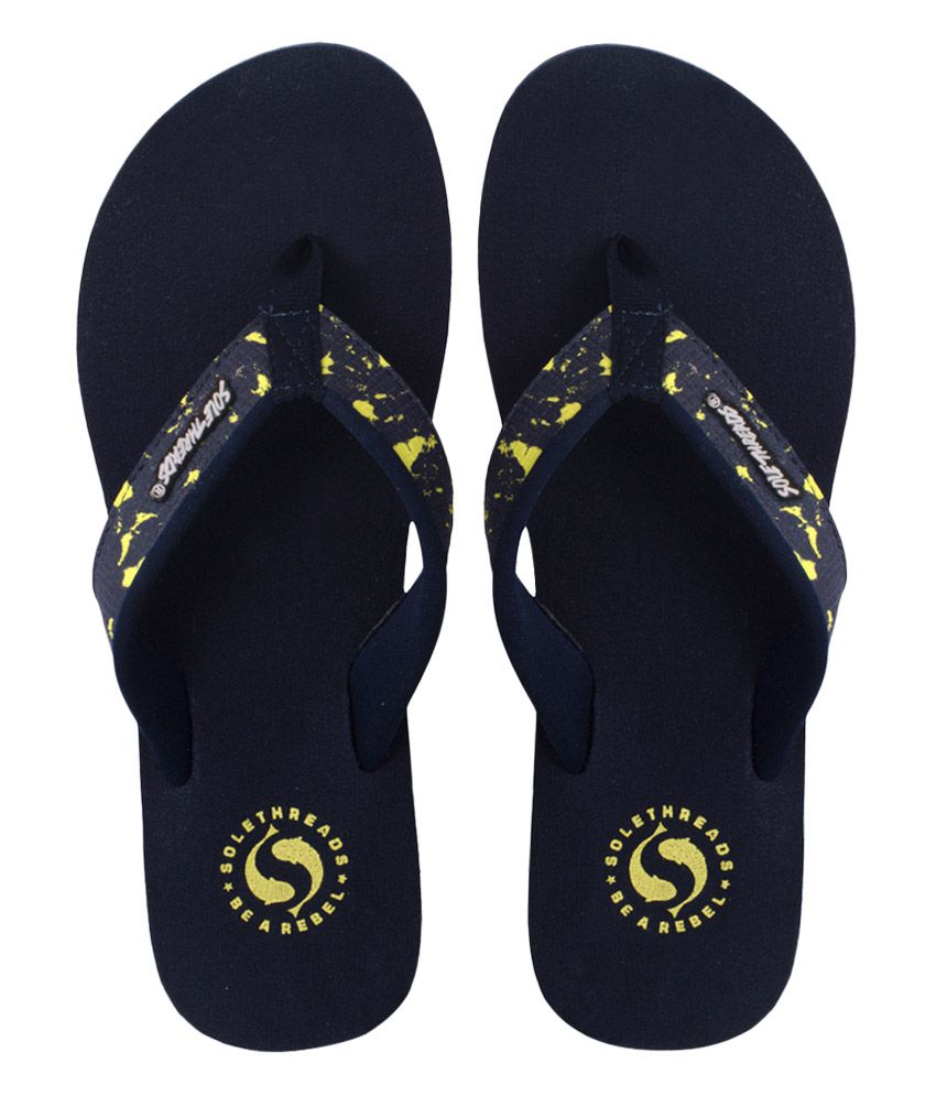 Sole Threads Navy Flip Flops