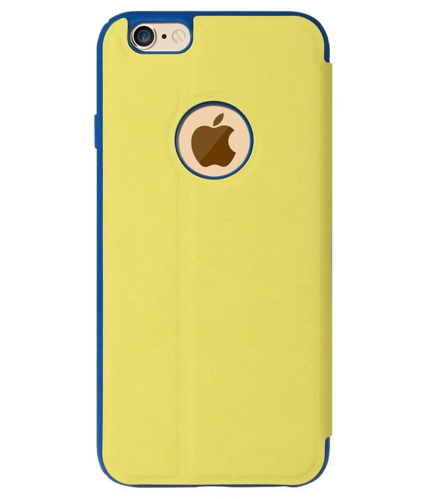 Baseus Back Cover For Apple Iphone 6 Yellow Flip Covers Online At Terse Leather Case Samsung Galaxy Note 5 Window View