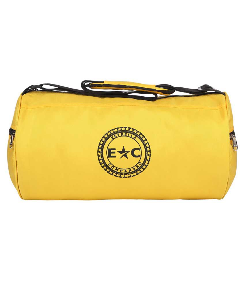Estrella Companero FIT BABE Yellow FITNESS GYM BAG -EC74