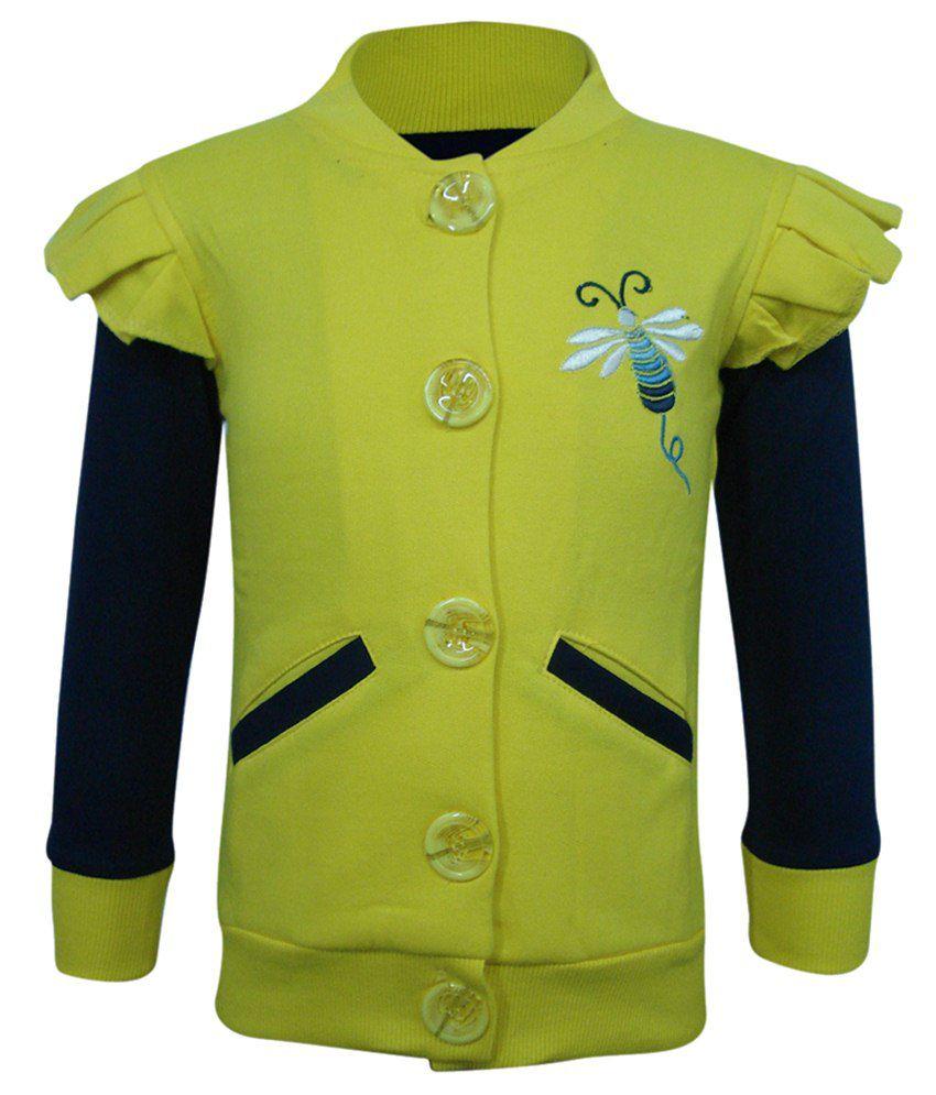 Kothari Yellow  amp; Blue Sweatshirt For Girls
