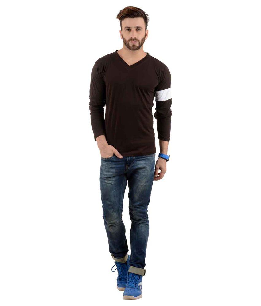 Radbofin Brown Cotton T-Shirt