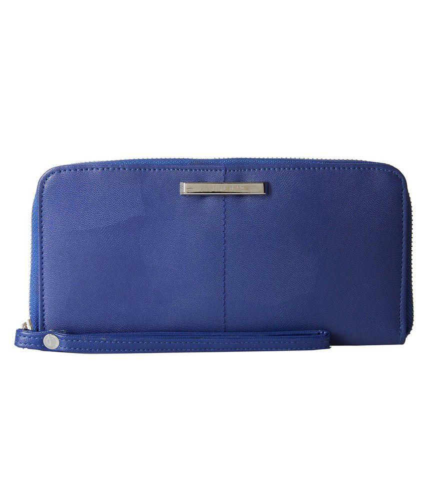 Fondue Blue Formal Long Wallet For Women