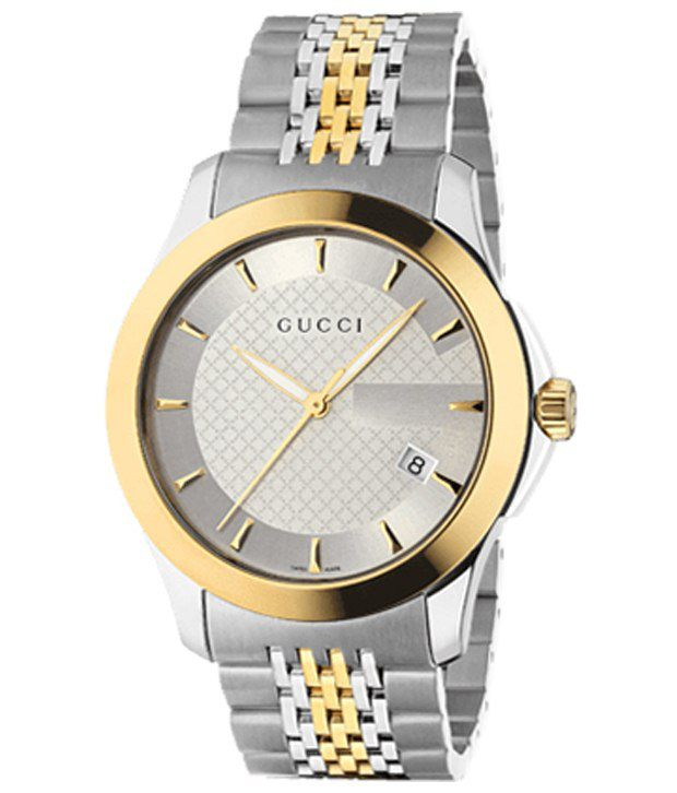 Gucci Silver Analog Unisex Wrist Watch