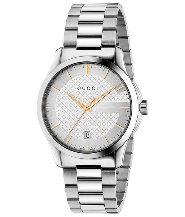 Gucci Silver Analog Wrist Watch for Men