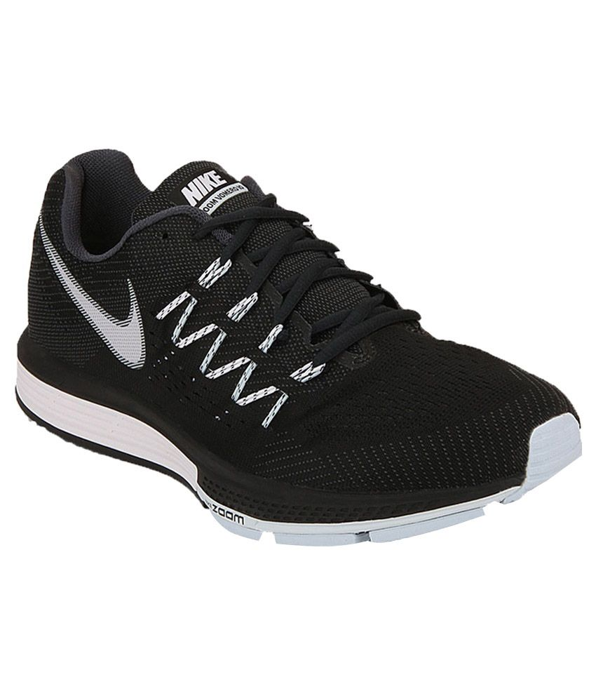 a862ecfc086c Nike Air Zoom Vomero 10 Black Sports Shoes - Buy Nike Air Zoom Vomero 10  Black Sports Shoes Online at Best Prices in India on Snapdeal