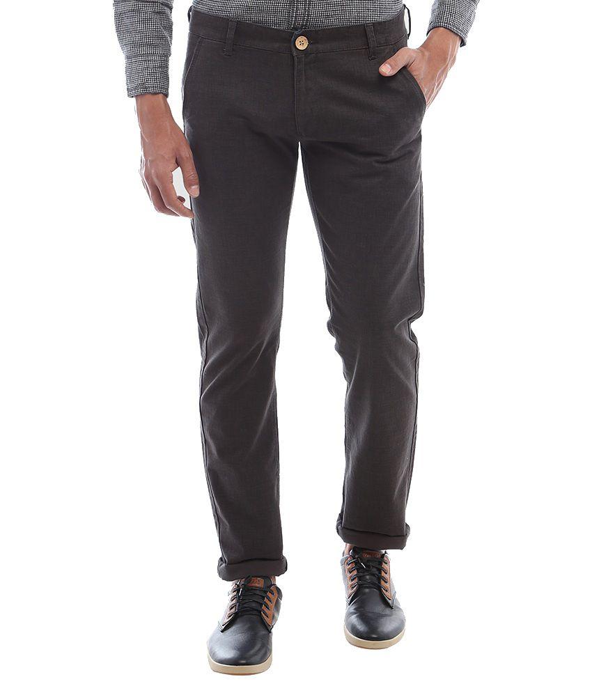 Vintage Brown Cotton Trousers