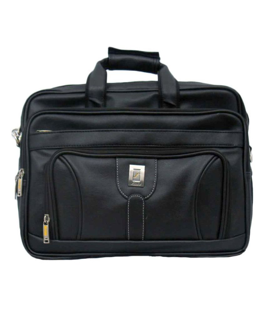 Fancy Black Laptop Compatible Office Bag