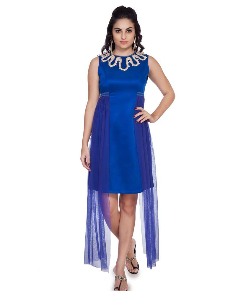 Soie Blue Polyester Dresses