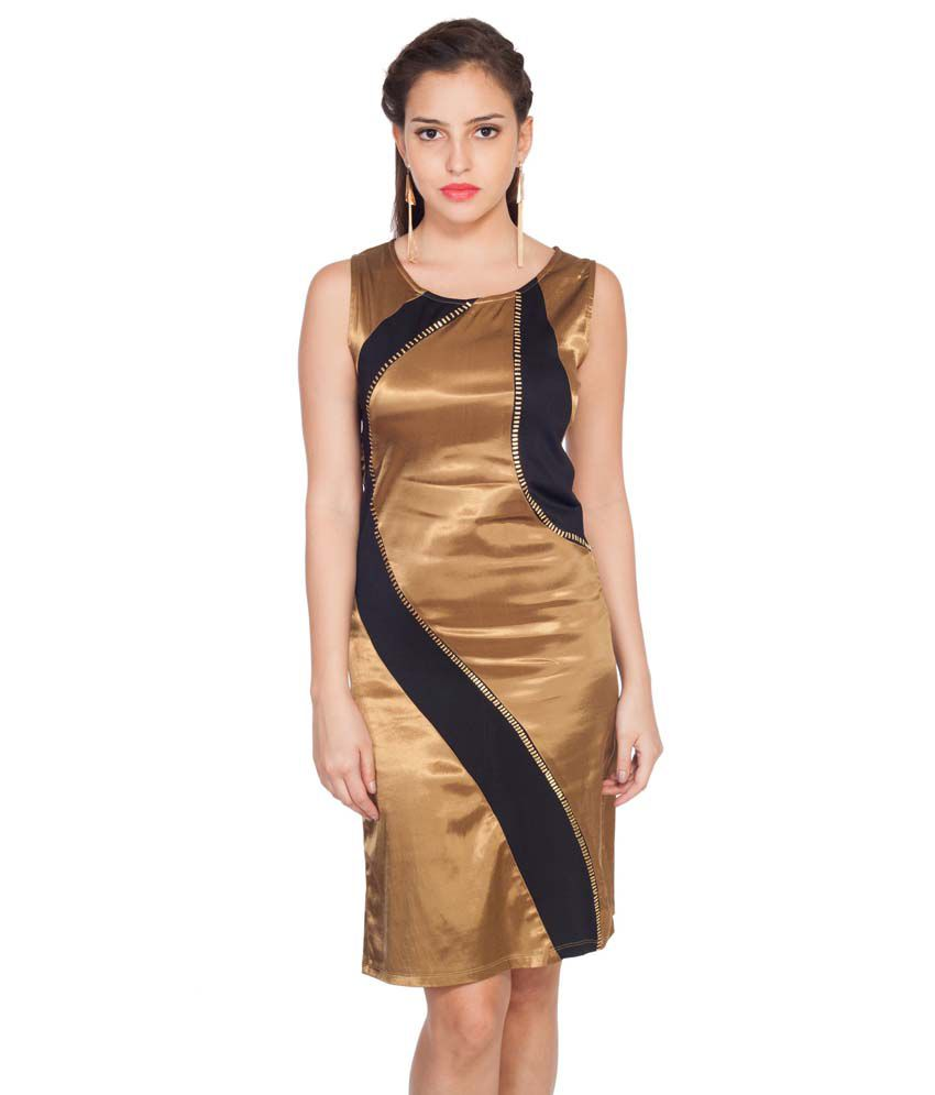 Soie Gold Others A Line Dress