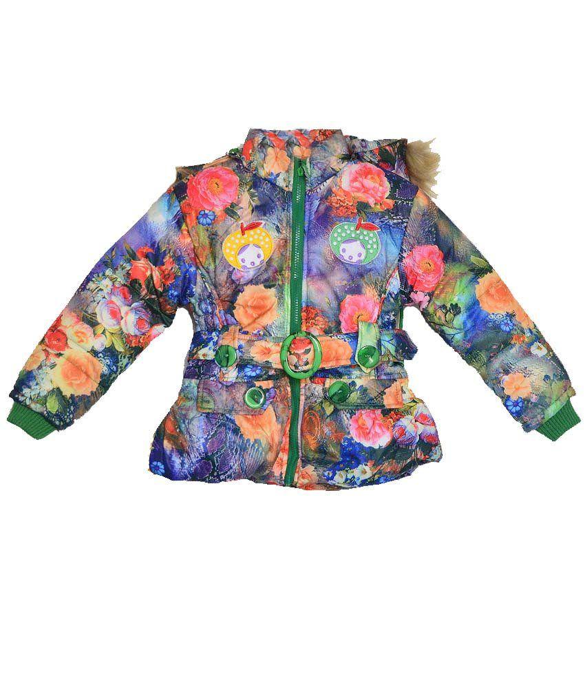 London Girl Floral Hooded Jacket